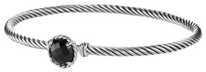 David Yurman David Yurman 3mm Onyx Sterling Silver Chatelaine Bracelet