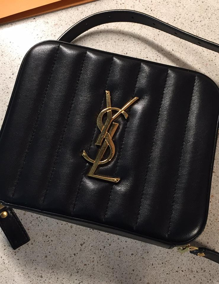 6eaabe3de4 Saint Laurent Vicky 2019 Monogram Horizontal Quilted Ysl Waist Pouch Fanny  Pack Ghw Black Lambskin Leather Cross Body Bag