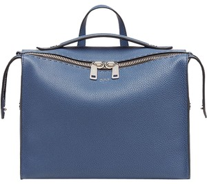 11612a176d Fendi Selleria Marine Blue Roman Leather Messenger Bag 34% off retail
