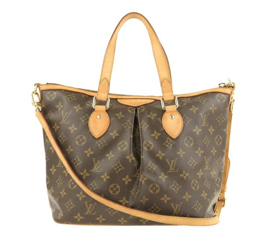 Louis Vuitton Palermo Pm Canvas Satchel in Brown Image 2