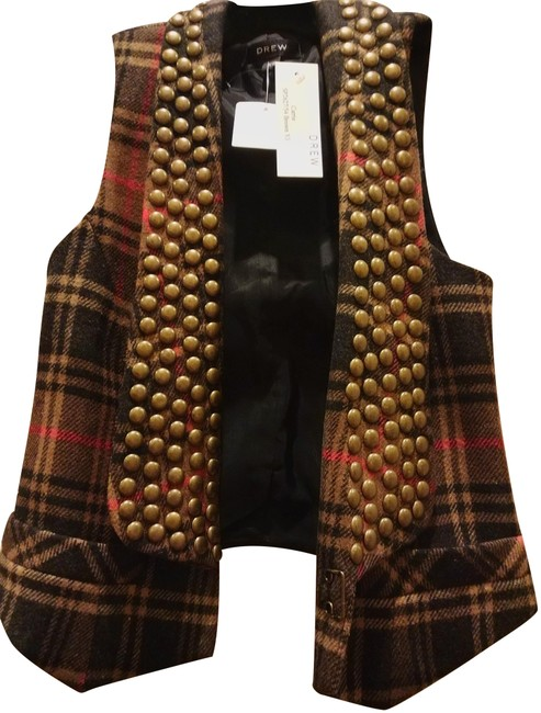 Polyester Wool And Acrylic Blend Plaid