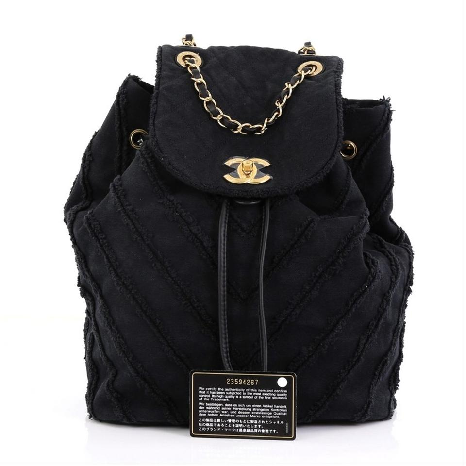 shop for best great quality 100% quality Chanel Bag Drawstring Chevron Canvas Patchwork Medium Backpack