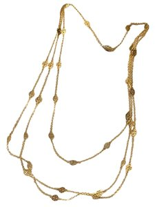Tory Burch multi strand gold plated tory burch signature necklace