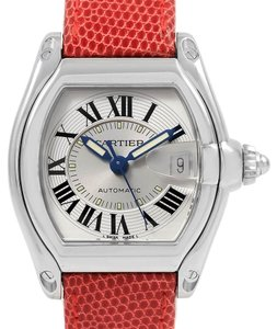 Cartier Cartier Roadster Steel Red Strap Large Mens Watch W62000V3