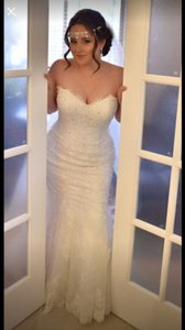 Maggie Sottero Ivory Tracey Traditional Wedding Dress Size Petite 10 (M)