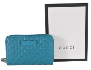 Gucci New Gucci 544249 Leather GG Guccissima Zip Card Coin Wallet