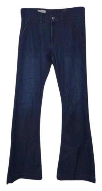 Item - Blue Dark Rinse The Goldie Flare Leg Jeans Size 8 (M, 29, 30)