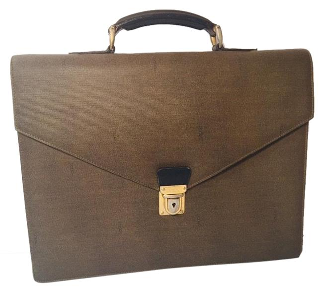 Item - Vintage Briefcase Document Business Brown Leather Laptop Bag