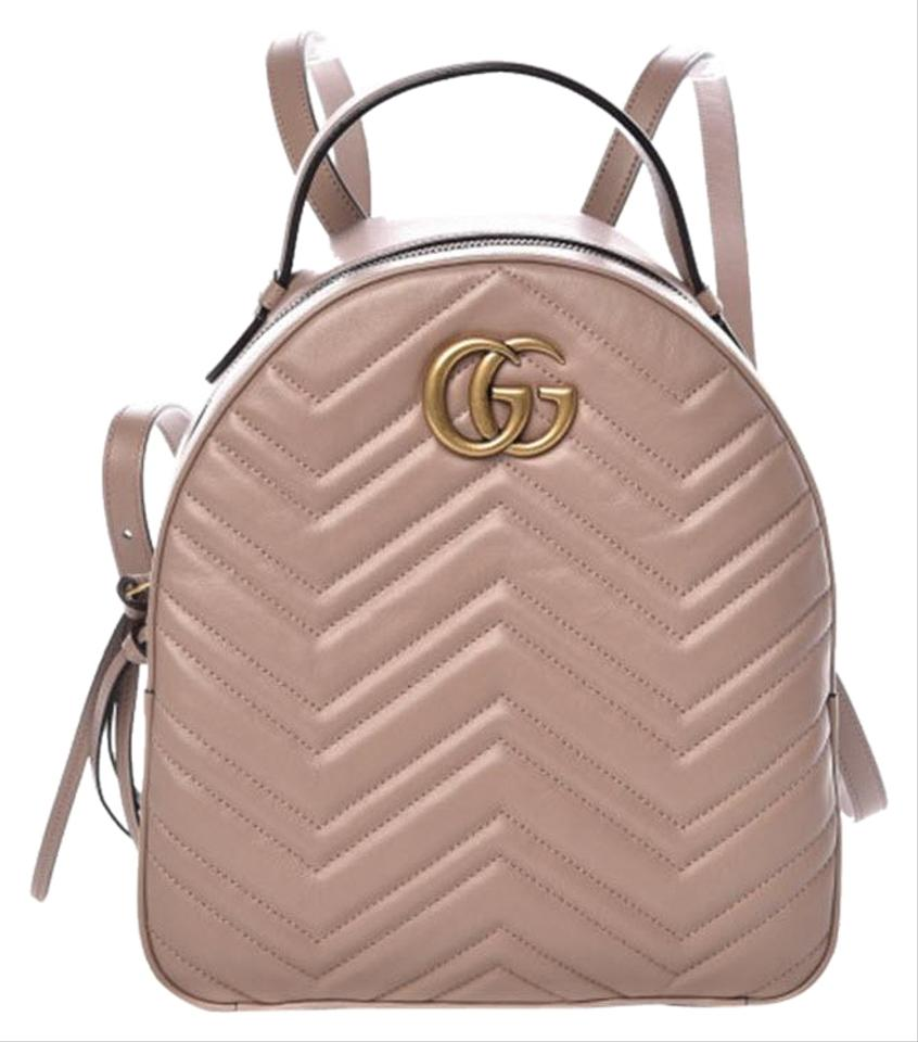 6db61dd92 Gucci GG Marmont Calfskin Matelasse Porcelain Rose Pink Quilted ...