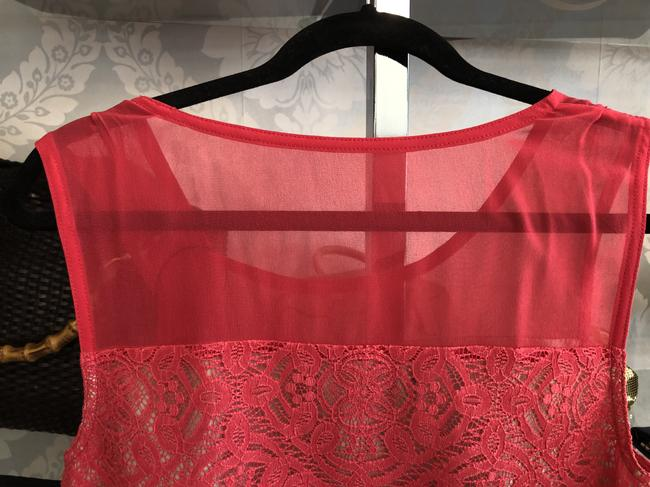 Marc by Marc Jacobs Sleeveless Lace Top Fiery Fuschia Image 2