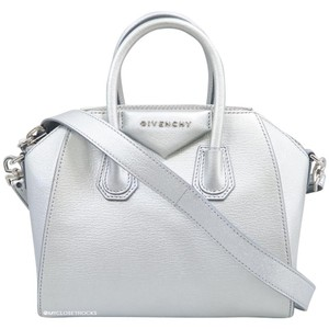 3f2a02d4a7 Givenchy Mini Antigona Crossbody Satchel in Silver