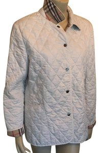 Burberry off white/quilted Nova Check Jacket