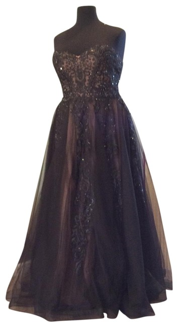 Item - Black/Nude Jvn66970b Long Formal Dress Size 18 (XL, Plus 0x)