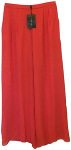 St. John Silk Size 8 M Medium New With Tags Wide Leg Pants Coral
