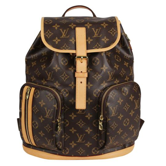 Louis Vuitton Canvas Bosphere Leather Monogram Backpack Image 1