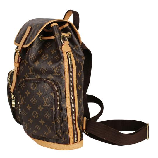 Louis Vuitton Canvas Bosphere Leather Monogram Backpack Image 4
