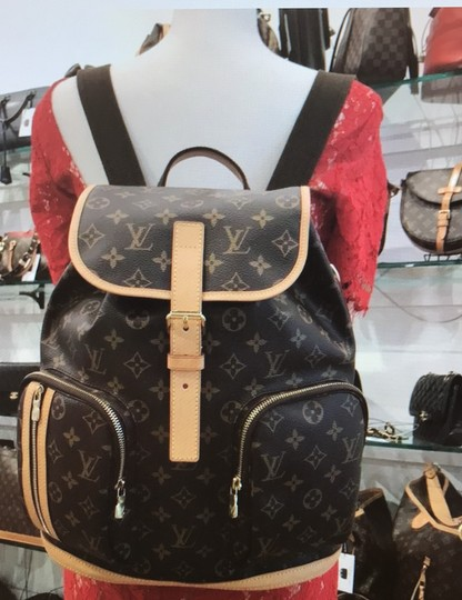 Louis Vuitton Canvas Bosphere Leather Monogram Backpack Image 9