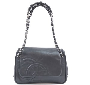 Chanel Cc Leather Flap Chain Shoulder Bag