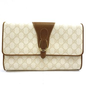 0824227cfef5 Gucci Gg Guccissima Flap white cream, brown Clutch