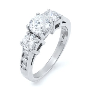 Gavriel's Jewelry Three Stone Round Cut Diamond Ladies Anniversary Ring 1.48 Cttw
