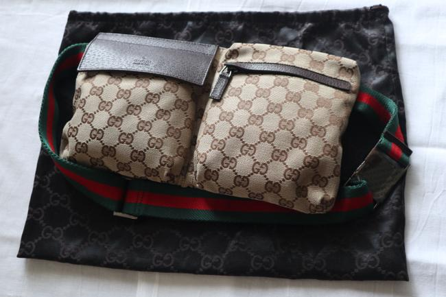 Item - Belt Gg Supreme Green Red Web Beige Multi Messenger Bag
