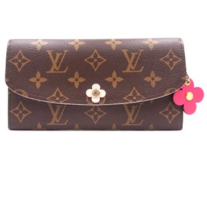 d55d6115d49560 Louis Vuitton #29931 Monogram Rare Flowers Long Flap Pocket Bill Case Zip  Zipper Organizer Emilie Wallet