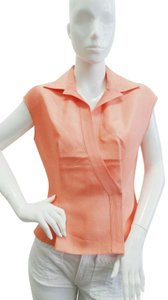 Armani Collezioni Silk Sleeveless Top Peach