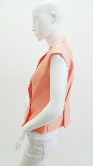 Armani Collezioni Silk Sleeveless Top Peach Image 1
