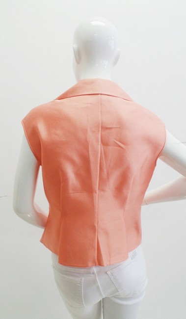 Armani Collezioni Silk Sleeveless Top Peach Image 2