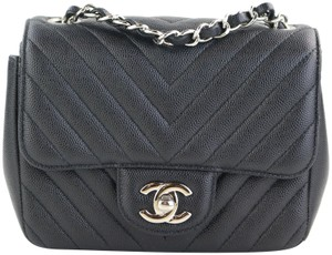 8d8e0eeb3fbe Chanel Square Mini Caviar Square Mini Mini Caviar Mini Chevron Mini Cross  Body Bag