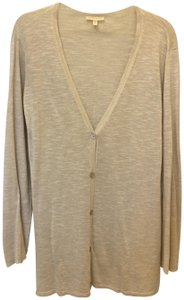 Eileen Fisher Flax Linen Mother Of Pearl Button Front Size Xl Extra Large Cardigan