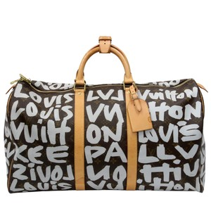 Louis Vuitton Damier Ebene Empreinte Bandouliere Collaboration Takashi Murakami Grey Travel Bag