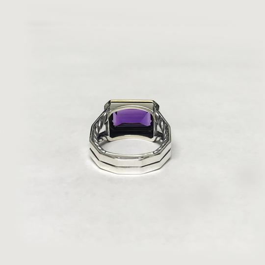 David Yurman Sterling Silver Novella Statement Ring With Amethyst And 18K Gold Image 3