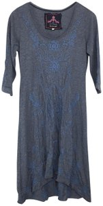 Johnny Was short dress Blue Embroidered Boho Bohemian on Tradesy