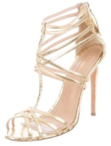 Aquazzura Strappy Stiletto Caged gold Sandals