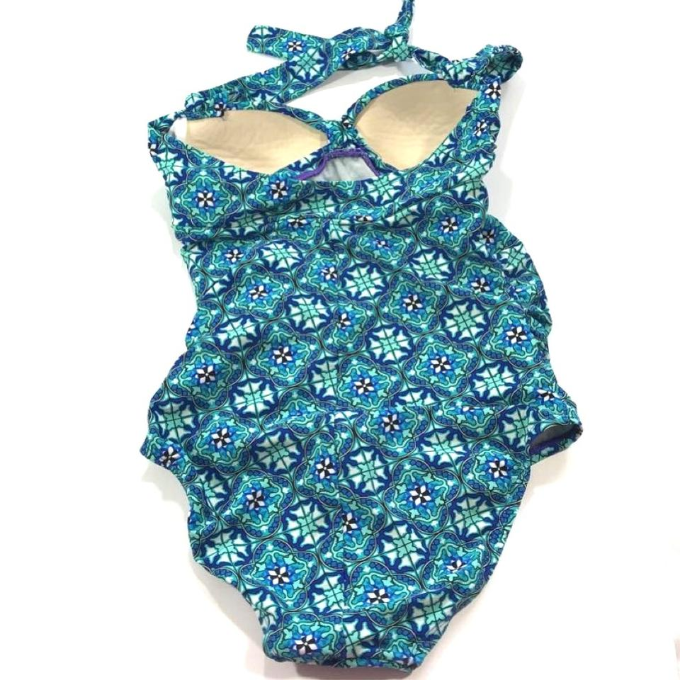 65b96c0ac9 Blue Love Your Spanx Glamour Ruffle One-piece Bathing Suit Size 6 (S) -  Tradesy