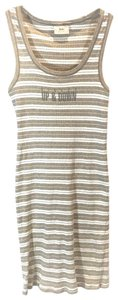 Sisley short dress Tan & White Stripe on Tradesy