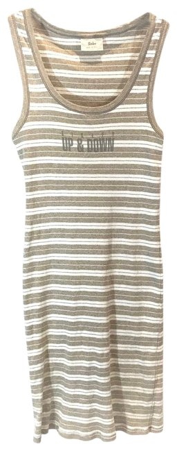 Preload https://img-static.tradesy.com/item/25453113/sisley-tan-and-white-stripe-up-and-down-short-casual-dress-size-4-s-0-1-650-650.jpg