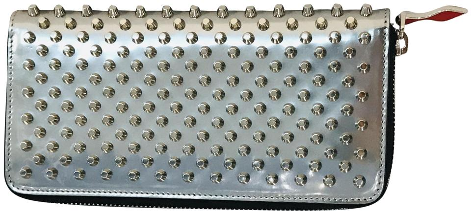 f957c8969db Christian Louboutin Silver Panettone Spiked Zip Wallet