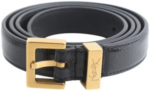 Saint Laurent Saint Laurent Lambskin Leather Belt