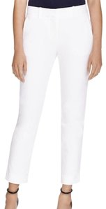 Theory Work Summer Capri/Cropped Pants White