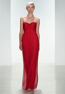 42e331dca2173 Amsale Scarlet Crinkle Chiffon G938c Sexy Bridesmaid/Mob Dress Size 10 (M)
