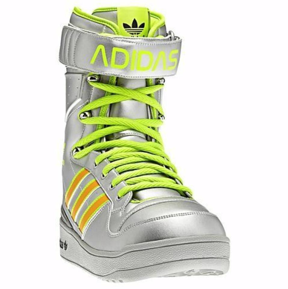 buy popular 17aef 52074 adidas Silver Obyo Leather Snow Boots Sneakers Size US 9 Regular (M, B)