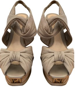 Fendi tan Platforms