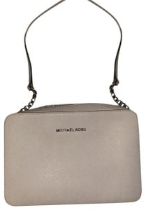 MICHAEL Michael Kors light grey with purple undertones Messenger Bag