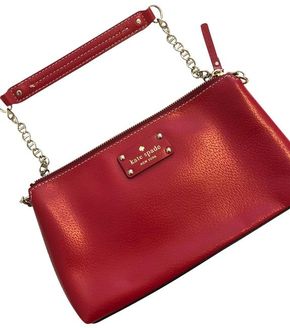 Item - Purse Red Leather Wristlet