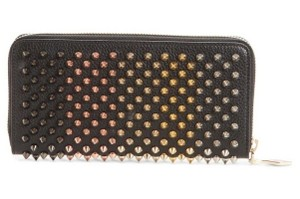 Christian Louboutin Panettone Mix Spike Multicolor Red Zip Around Continental Long Wallet