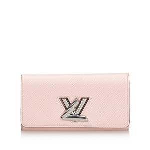 Louis Vuitton Louis Vuitton Pink with Silver Epi Leather Twist Wallet France SMALL