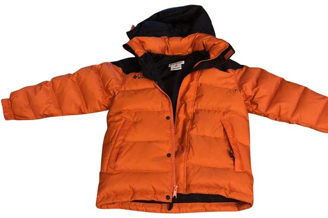 Item - Orange W/Black Lining Down Ski Jacket Activewear Size Petite 0 (XXS)