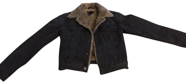 Item - Charcoal Outside Jean with Lining Jacket Size 0 (XS)